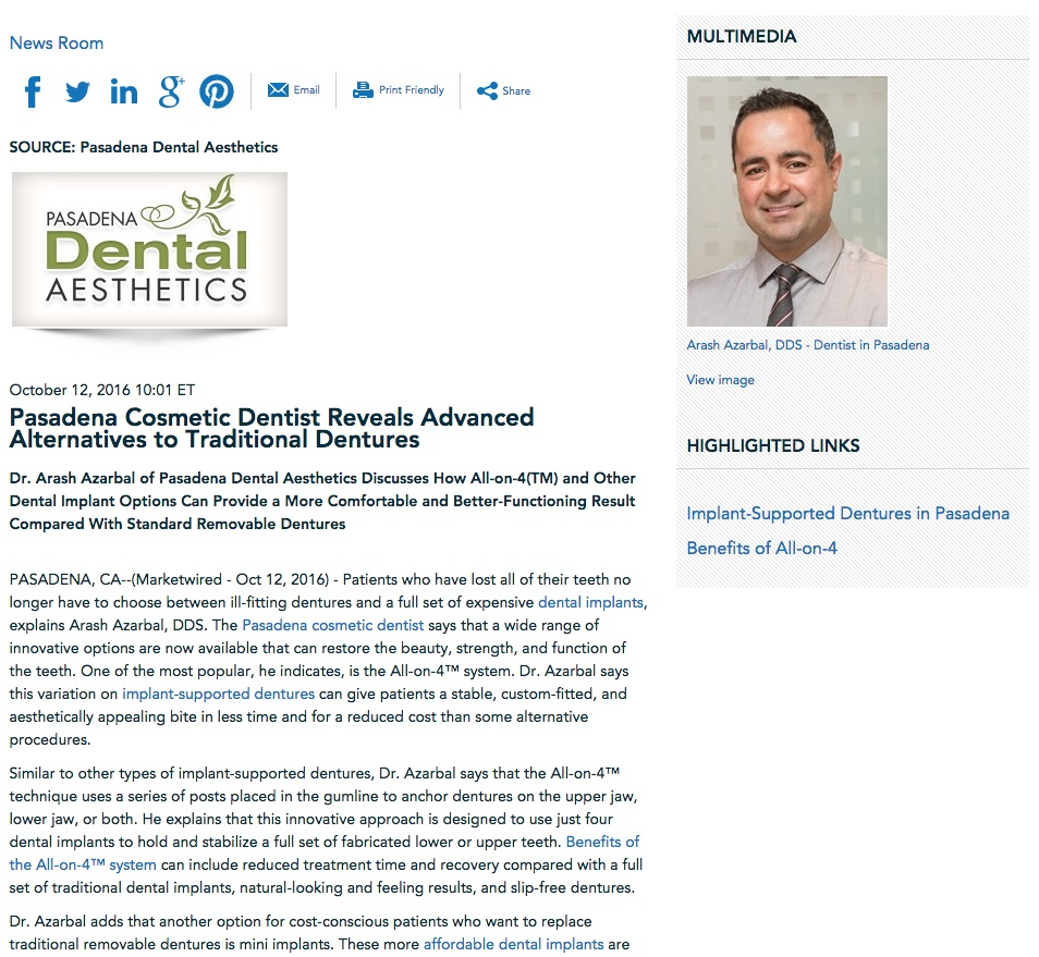 Dr. Azarbal discusses implant-supported dentures